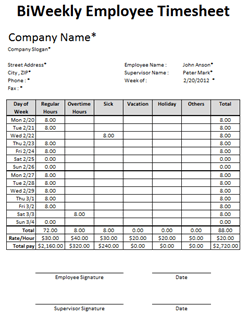 16/04/2019· 50 bi monthly timesheet template excel. Free Excel Employee Timesheet Template