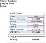 volatility calculator