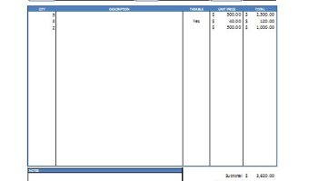 Excel Service Invoice Template Free Download - Excel invoicing system for service business