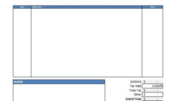 Excel Job Invoice Template Free Download - Job invoice template