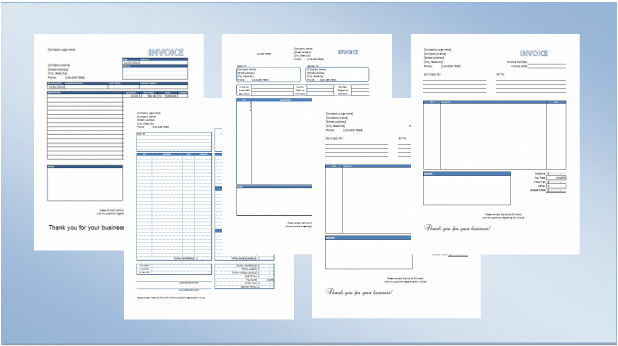 premium invoice template everest - spreadsheetshoppe, Invoice templates