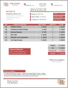 Invoice Template Everest Red