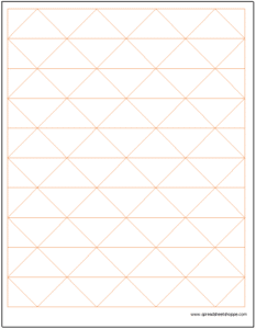 Axonoetric Graph Paper with Horizontal Lines