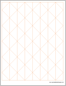 Axonometric Graph Paper with Vertical Lines