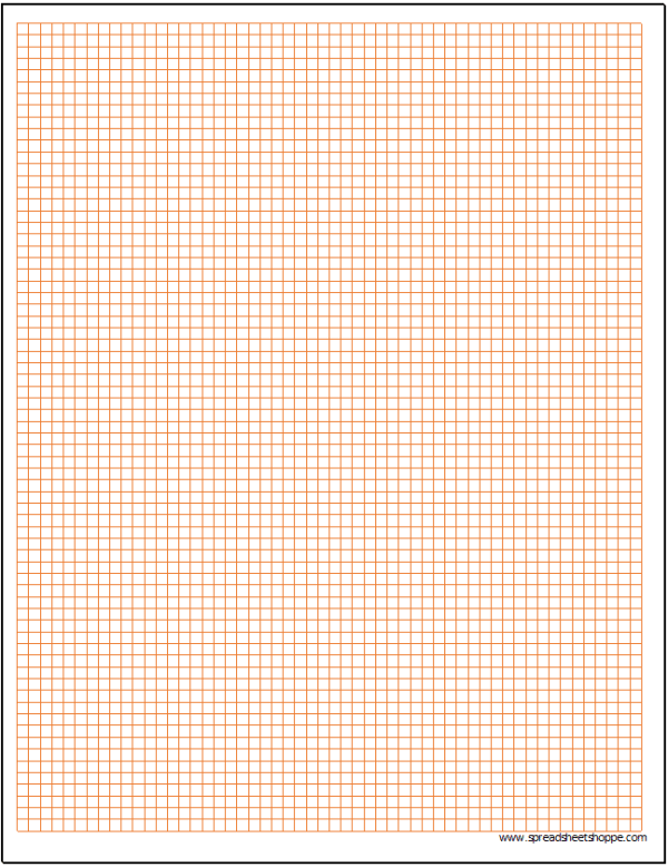 Cartesian Graph Paper Template