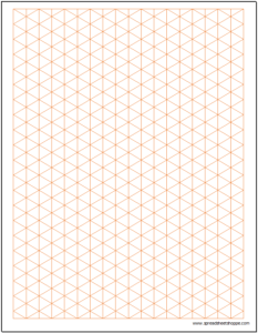 Graph Paper - Isometric .5 inch Excel Template