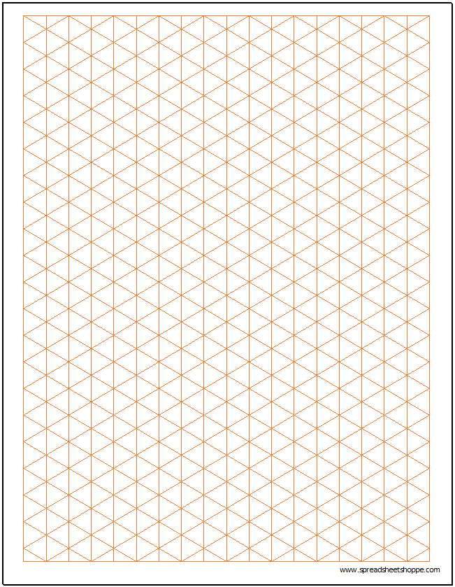 Isometric Graph Paper Template Spreadsheetshoppe – Graph Paper Template