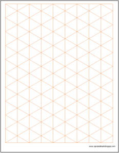 Graph Paper   Isometric 1 Inch Excel Template