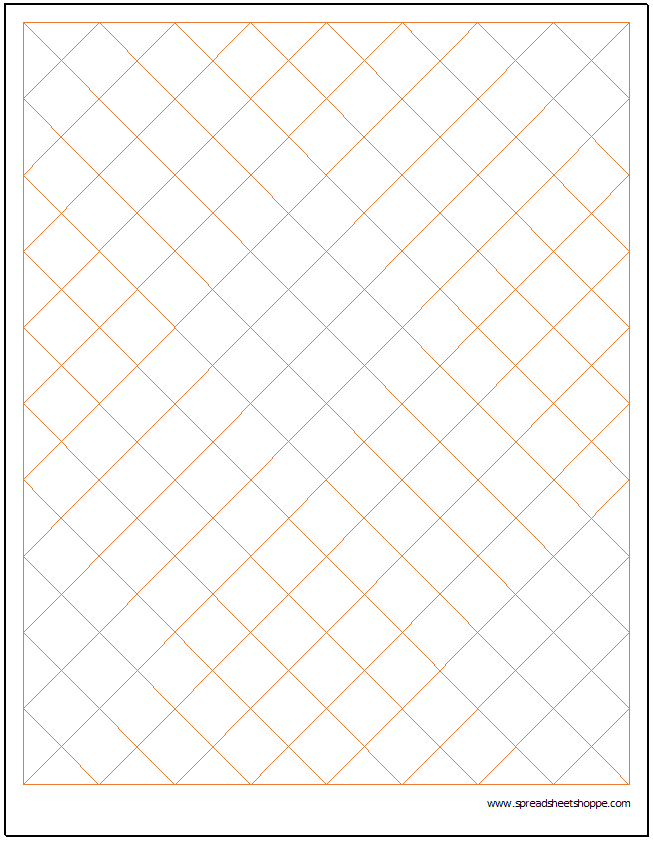 Diamond Graph Paper Excel Template
