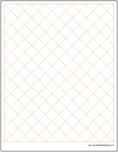 Diamond Graph Paper Excel Template