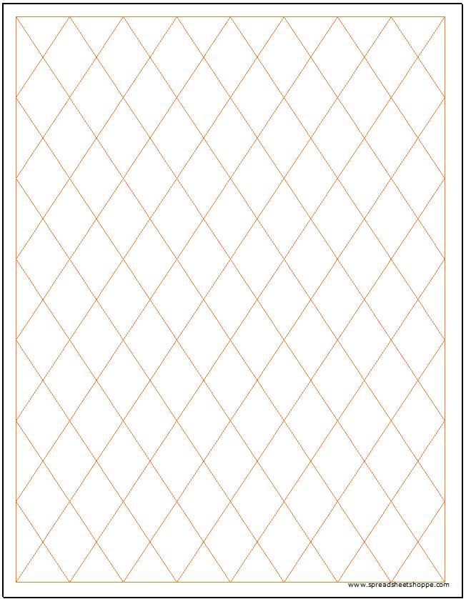 diamond rhombus graph paper template