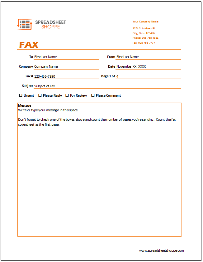 Fax Cover Sheet Template  Fax Cover Letter Templates