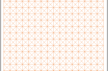 Square and Diagonal Graph Paper Template