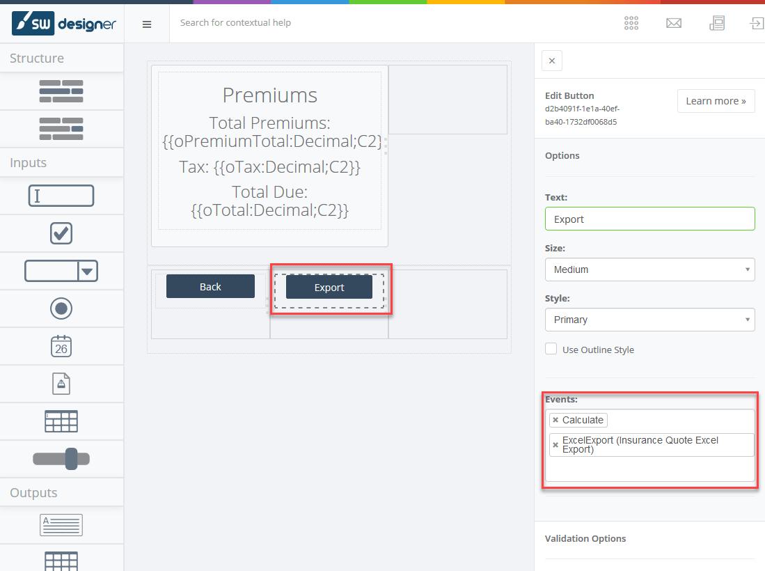 Excel Export In Designer Applications