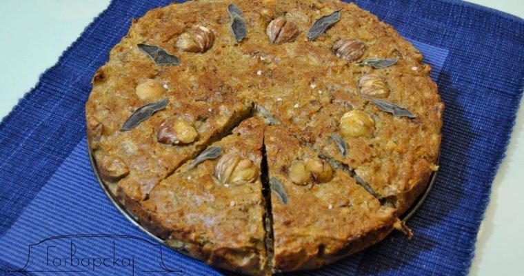 Кекс с карфиол, кестени и салвия