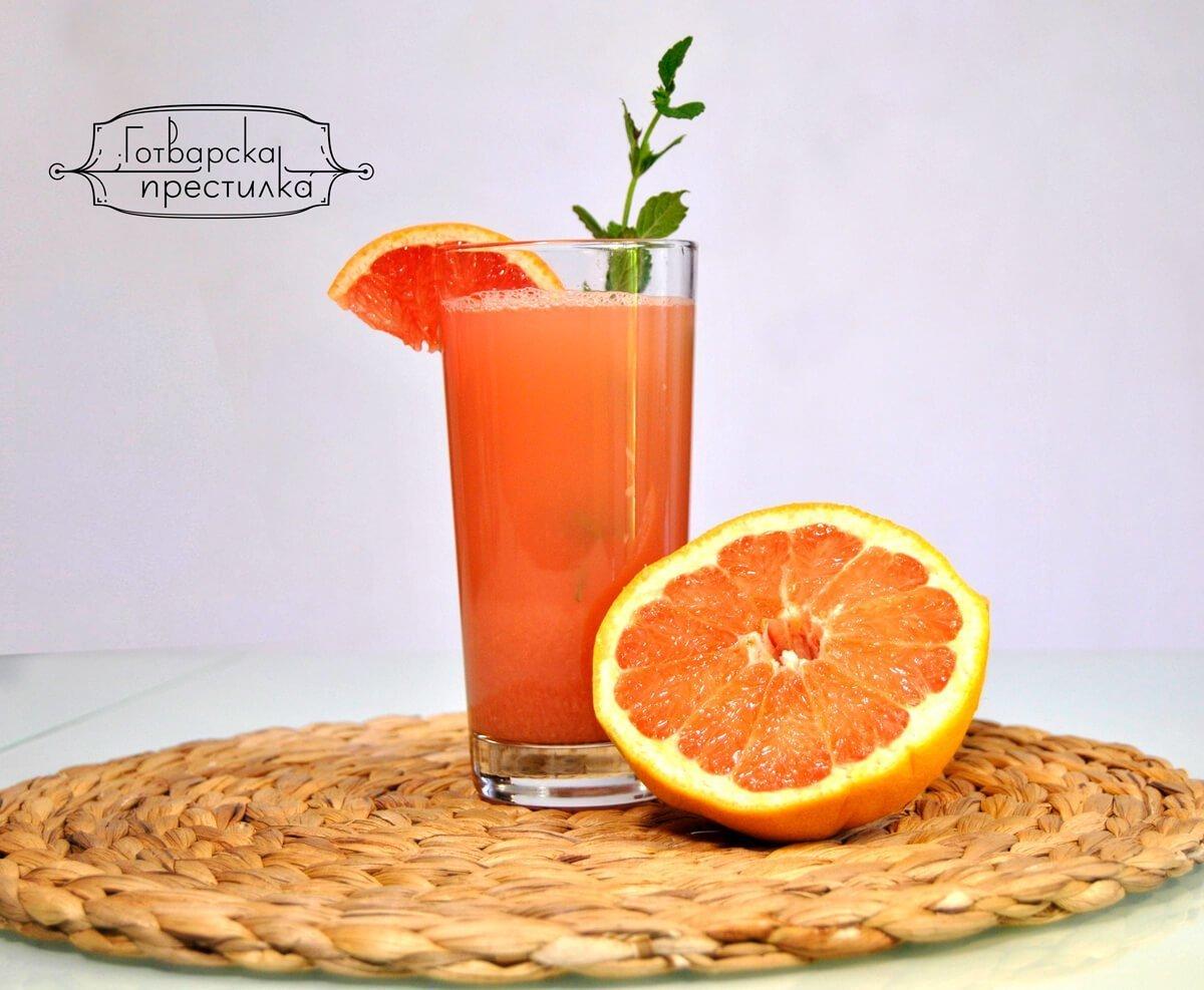 Сок от гейпфрут с джинджифил и канела