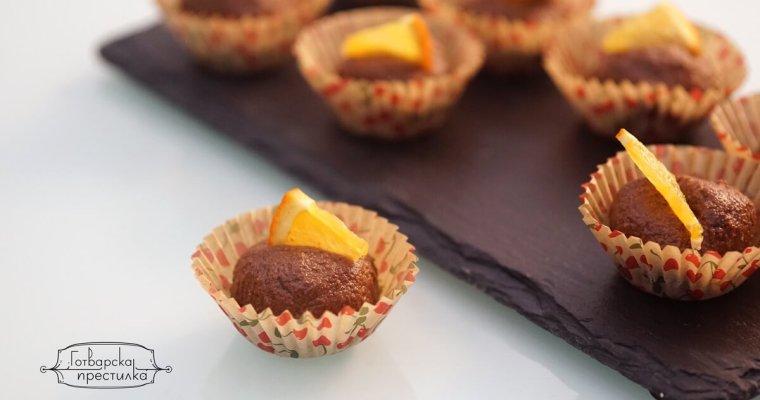Сурови бонбони с какао и портокал