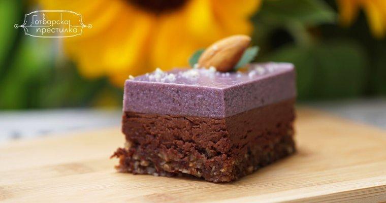 Веган торта с шоколад и къпини