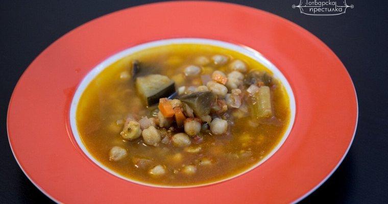 Пикантна супа с патладжан и нахут