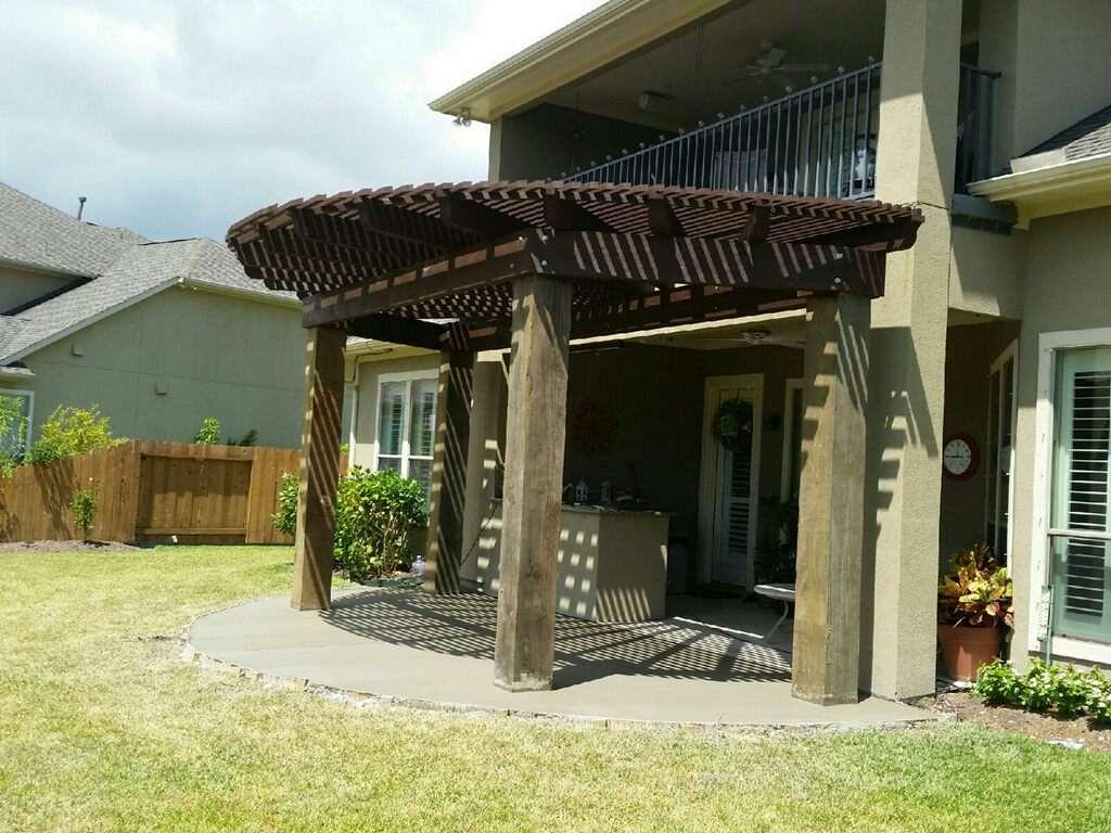 Custom Pergola Companies and Patio Builders Near Me in ... on Backyard Patio Extension Ideas id=98204