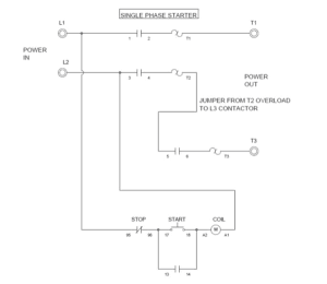 Wiring a Single Phase Motor Through a 3 Phase Contactor: How and Why?