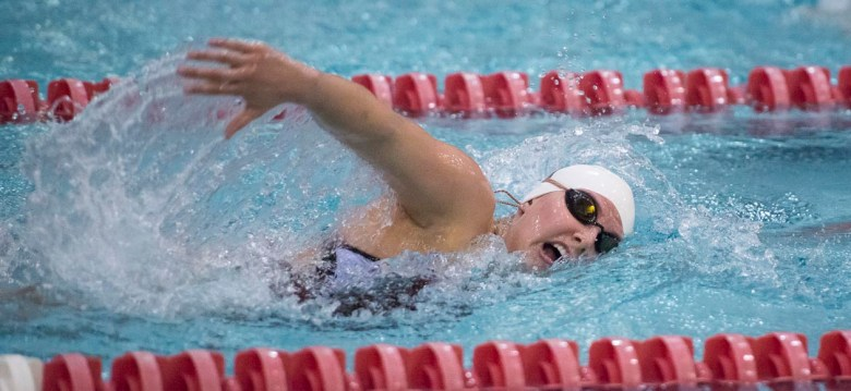 Women's Swimming and Diving Prevails Over Holy Cross In Final Dual Meet