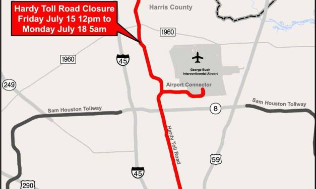 Hardy Toll Road & Hardy Airport Connector to be Completely Closed in Both Directions