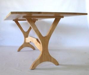 sleek dining table