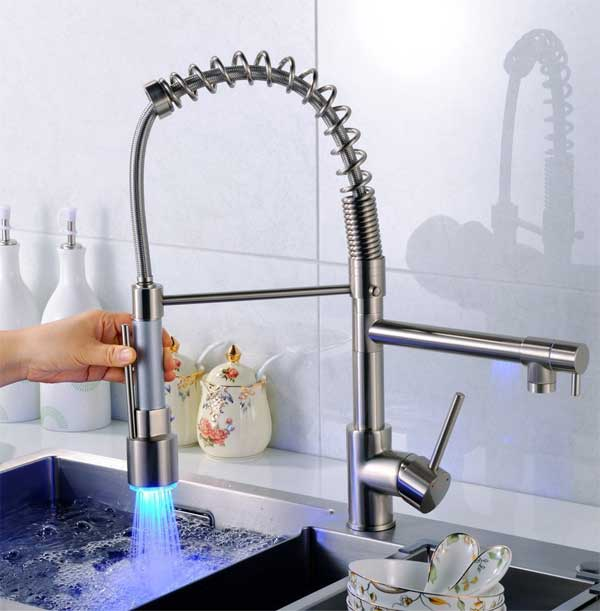 pull down led kitchen faucet the best