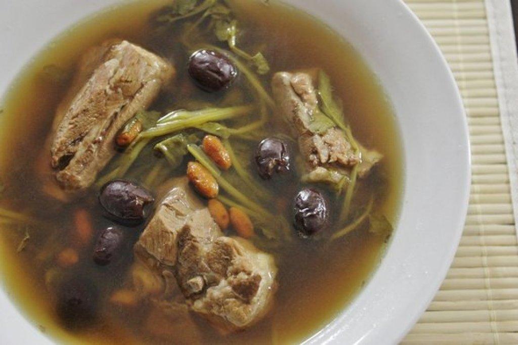 Watercress Pork Rib Soup