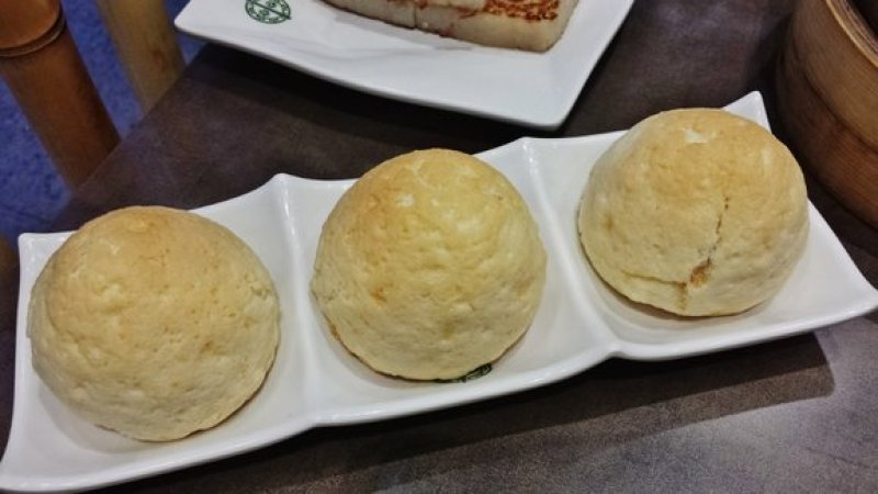 Tim Ho Wan Baked Bun with BBQ Pork ($4.50)