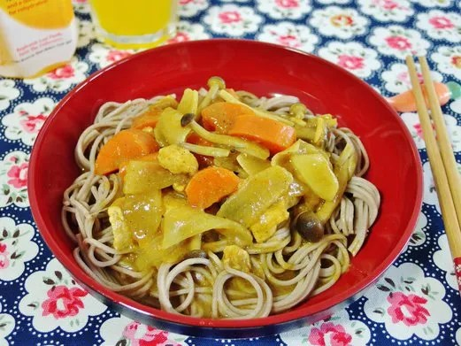Japanese Curry Soba Noodle Recipe