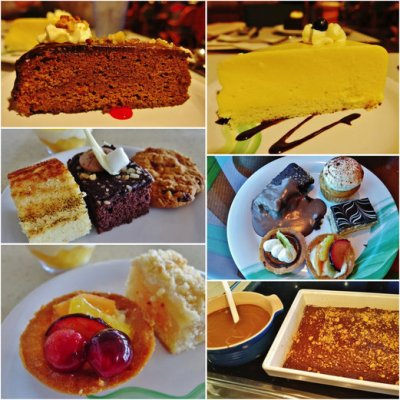 desserts from the buffets