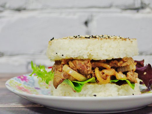Rice Burger Recipe (with beef)