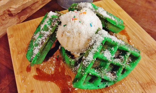 ButterScotch Cafe Ondeh Ondeh Waffles