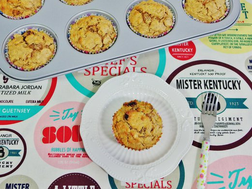 Whole Wheat Oatmeal Raisin Muffins Recipe