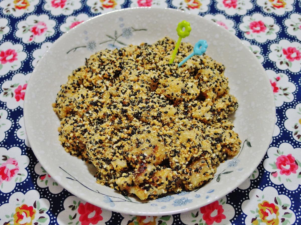 Peanut Sesame Muah Chee Recipe 花生芝麻麻糍