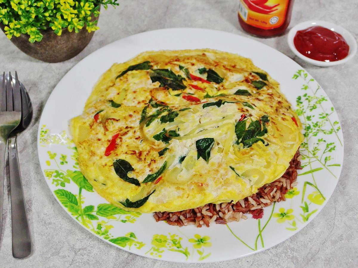 Basil Omelette Recipe