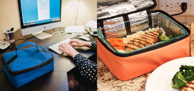 lunchbox doubles as portable oven