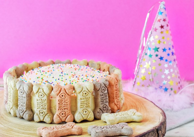 Peanut Butter Banana Dog Birthday Cake
