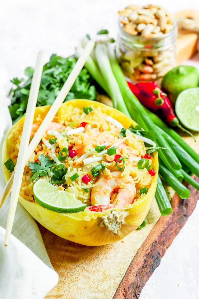 Instant Pot Spaghetti Squash Pad Thai