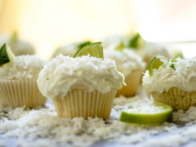 lime in the coconut cupcakes