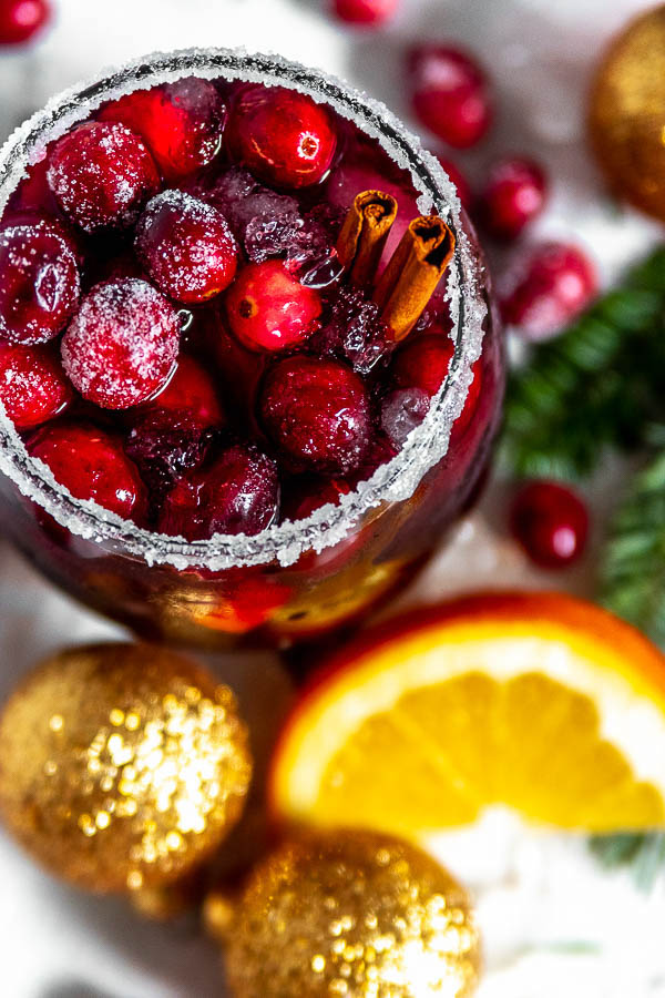 Cranberry Orange Christmas Sangria
