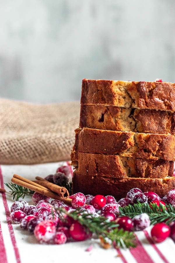 Cranberry Eggnog Bread Stack