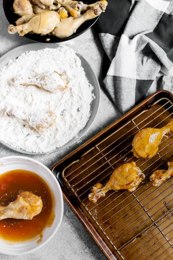 Instant Pot Honey Apricot Glazed Drumsticks