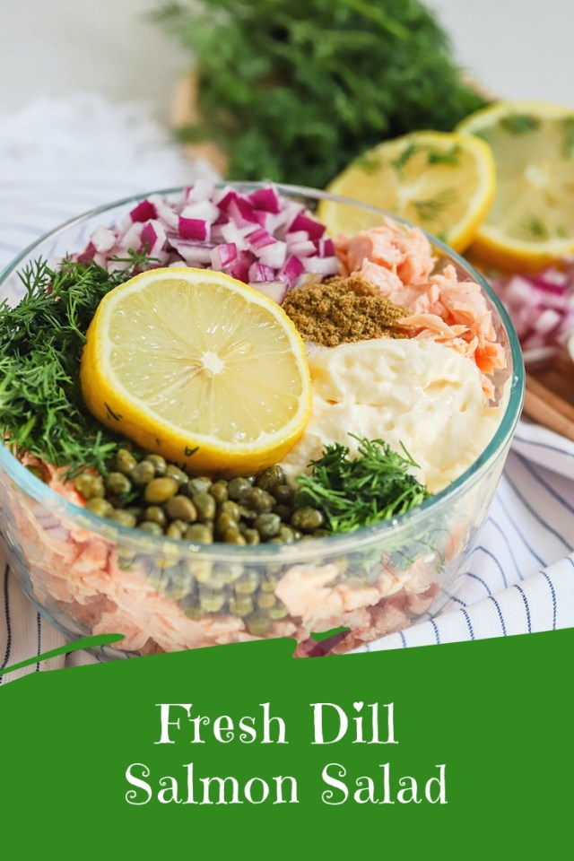 fresh dill salmon salad