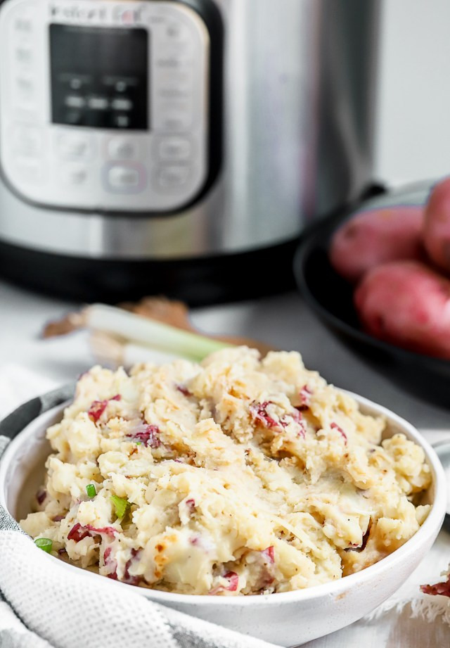 Instant Pot Garlic Parmesan Mashed Potatoes