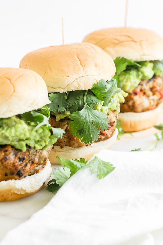 Sweet Pepper Grilled Turkey Burgers