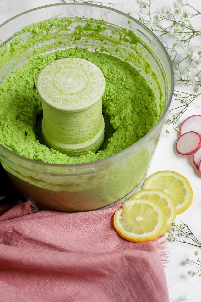 Minty Green Pea Hummus