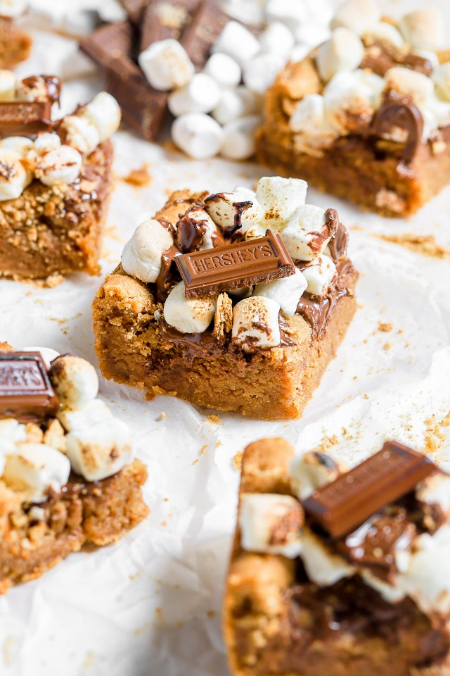 Peanut Butter S'mores Blondie